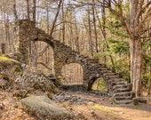 Stone Staircase, 8x10 photograph, castle photo, architecture, photography, woodland photo, wall art, home decor, rustic, fine art print, art