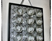 Elegant B & W Patterned Spice Rack/ Organizing Rack