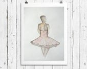 Limited Edition Art Print / Ballerina / Delicate Dancer / 8x10