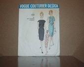 Vintage 1960's Vogue Pattern Couturier Design by John Cavanagh of England Pattern 1235 One Piece Dress (FREE SHIPPING)
