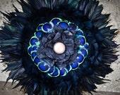 Black Bouquet - Gothic Wedding, Black Bridal Bouquet, Peacock-inspired wedding, Black Home decor, Unique Bouquets