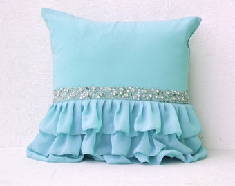 Sky blue pillow Etsy
