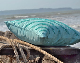 popular items for beach wave pillow on etsy