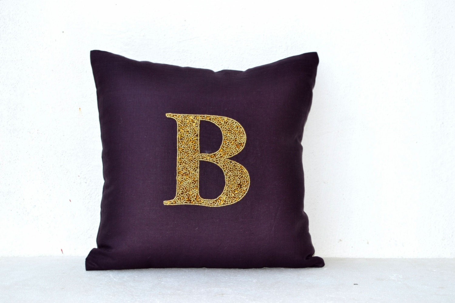 Monogram Pillows Personalized Throw Pillows Gold By