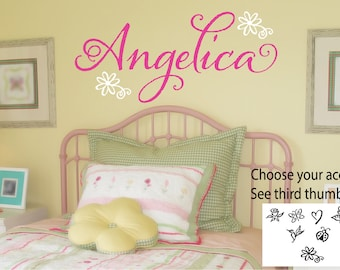 Girls Name Decal - Personalized Name Decal - Girls Bedroom Decor - Childrens Name - Teen Name