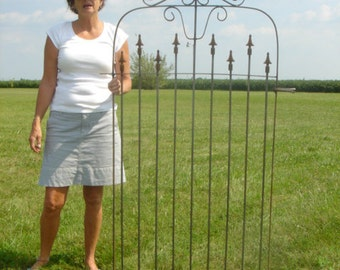 Ornate Wrought Iron Gate that works with our 5' Tall Interlocking Metal Fence