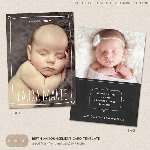 free birth announcement template - birth announcement template chalkboard frames cb001 for