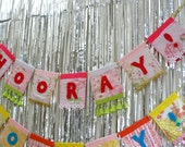 Hooray Banner - garland, party decor, room decor, photo prop, nursery decor, shower, engagement party, wedding