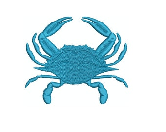 Machine Embroidery Design Instant Download - Blue Crab