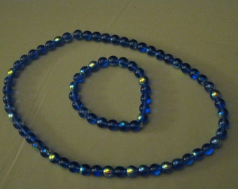 BLUE IRIDESCENT JEWELRY Set