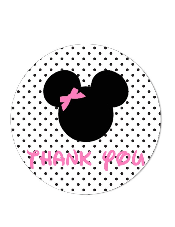 Minnie mouse Thank you Tags Stickers by StyleMeShabbyChic on Etsy