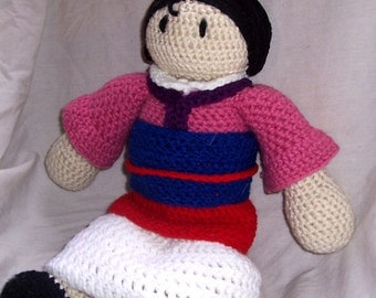 Mulan Crochet Doll