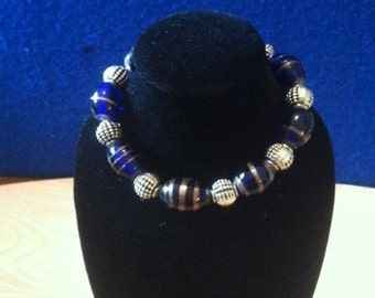 Modern Blue and Black Bracelet