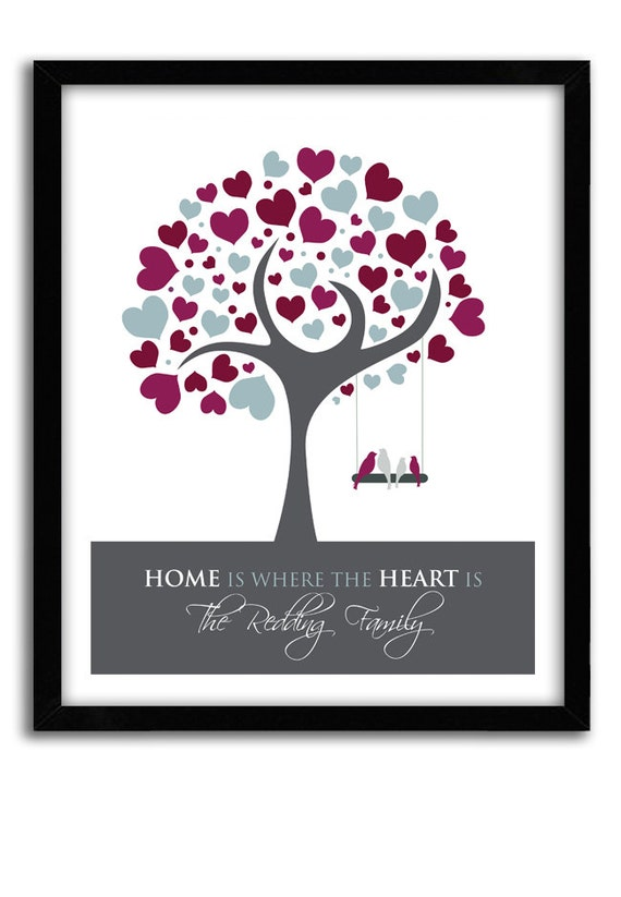 family tree art personalized with family name home is. Black Bedroom Furniture Sets. Home Design Ideas