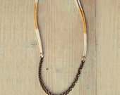 White and gold cord necklace - SAILOR - AMEjewels