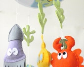 Ocean baby mobile / Under the sea baby mobile / Under the sea nursery mobile / Baby Crib Mobile / Under the sea nursery room / make your own