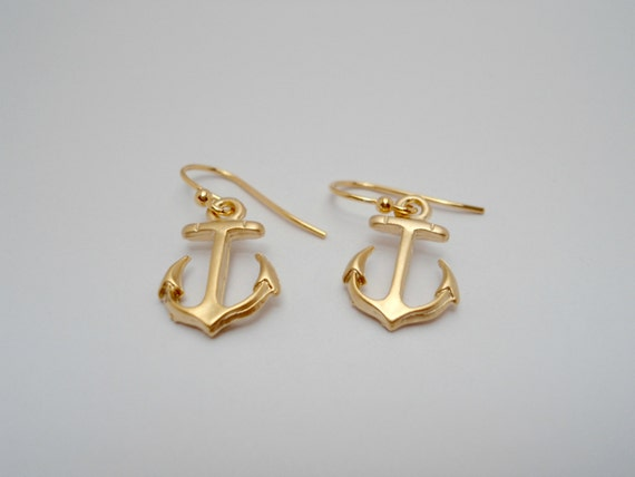 mini anchor earring gold anchor earring anchor charm