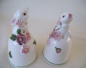 AVON Bunny Bell Porcelain, White Rabbit, Bunny Collector, Easter Gift, Made in Brazil, Vintage Avon Collectible