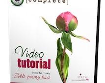 Video tutorial how to make SILK PEONY  BUD using Japanese flower making tools