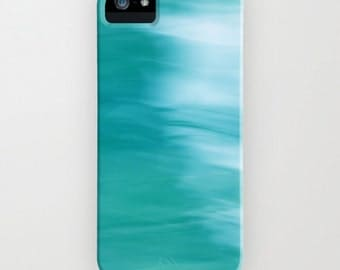 iPhone Case - 5 4 4s 3g 3gs -  Abstract Blue & White - abstract photography - blue - turquoise - aqua - white