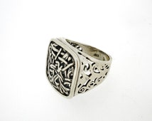 Handcrafted 925 Sterling Silver Ring, Under 50 dollars Christmas Sale, Unique unisex Design by Poran, Made in Israel