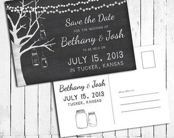 Wedding save the date chalk   Etsy