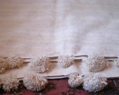 Moroccan Extra Large POM POMS Wool Blanket in Exra Large Size