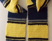 Blue and Yellow Striped Scarf (Made to Order)