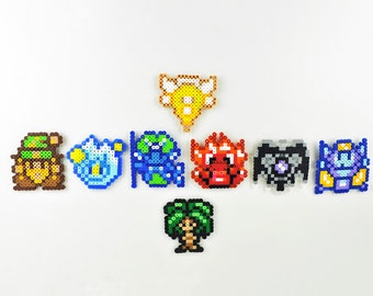 Secret of Mana Magnet Set Perler Bead Super Nintendo 8 Elemental Spirits