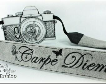 """Camera strap """"carpe diem"""""""