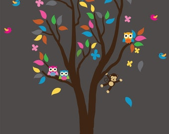 Kids Tree Wall Fabric Decal ECOFRIENDLY Non-Toxic Reusable Fabric Decal - 990