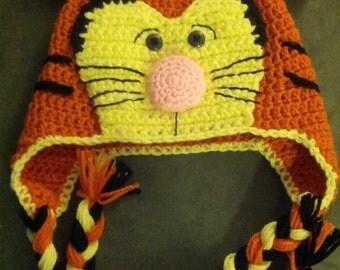 Crochet Happy Tiger Hat