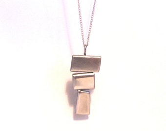 Recycled Metal Stainless Steel Necklace wih Pendant
