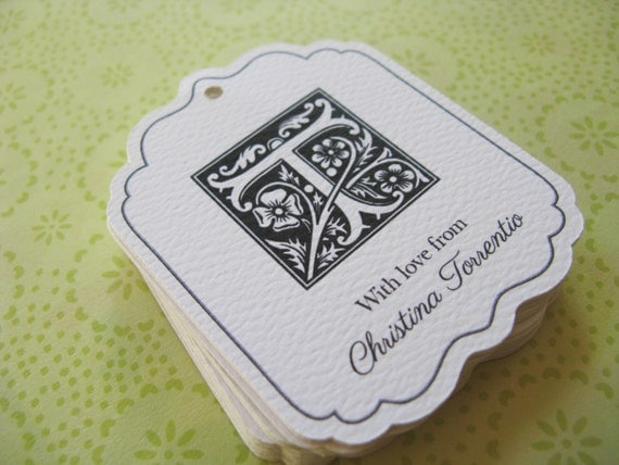 Personalised Wedding Gift Tags : Personalized Gift Tags, Monogram Wedding Favor Tag, or Custom Product ...