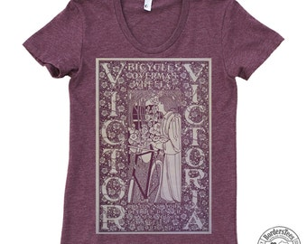 Women's VICTOR VICTORIA American Apparel Poly-Cotton Tee