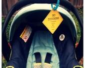 Preemie, Newborn, Infant Car Seat Tag, Yield Sign, Baby Boy or Girl Gift