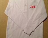 Boy's Short Sleeved Pique Polo Shirt with Monogram
