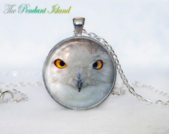 OWL PENDANT   owl necklace White owl Jewelry Necklace for him  Art Gifts for Her for menArt Gifts (P10008)