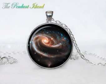 ASTRONOMY Pendant  Astronomy necklace Astronomy jewelry Nebula in the constellation Andromeda  Galaxy necklace  universe pendant for men