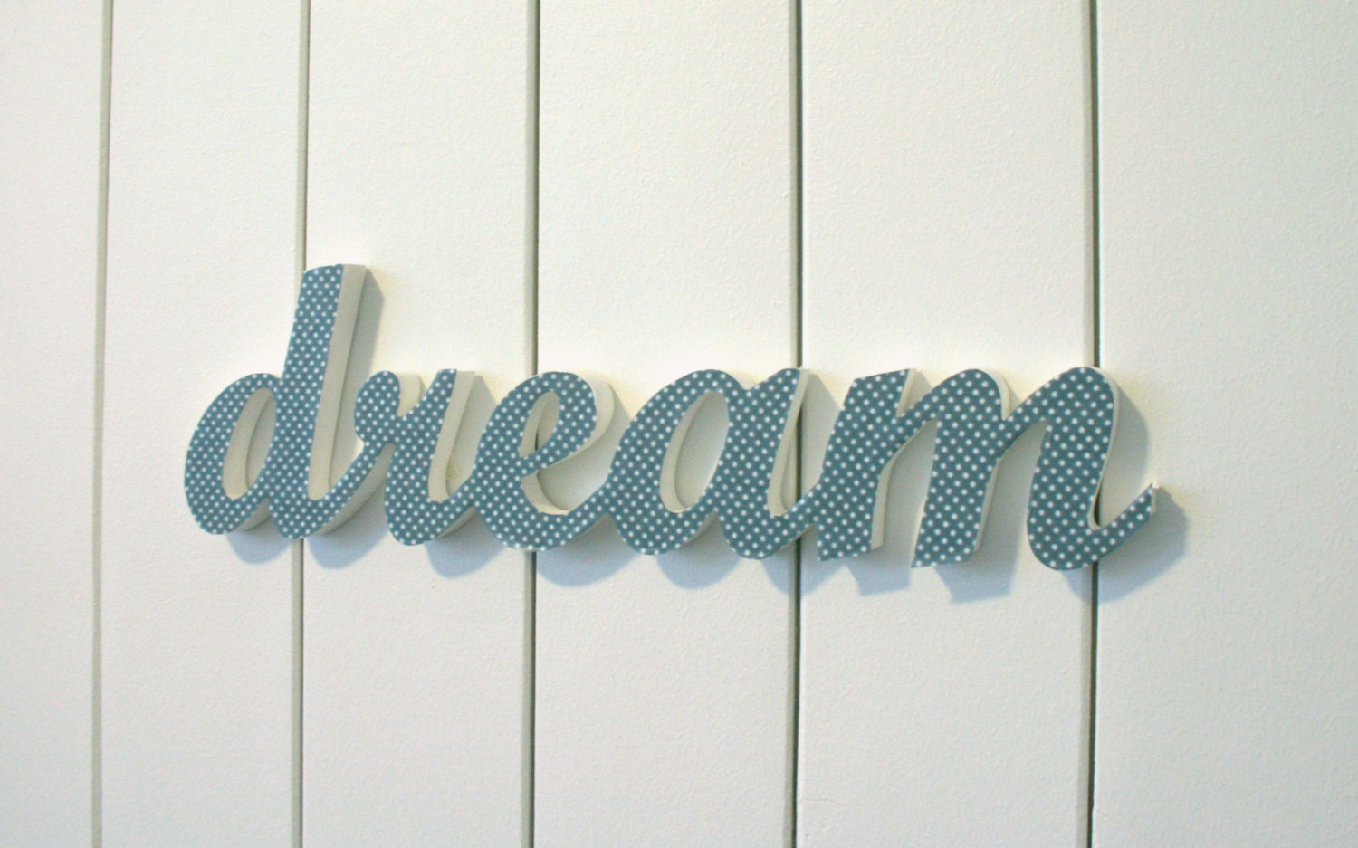 Wooden Words Wall Art : Dream inspirational wood word wall art hanging or
