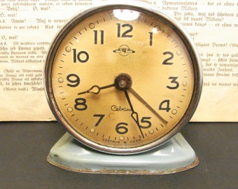 Old Vintage Alarm clock SEVANI from USSR era mehanical CLOCK Full working Clock Home decor 1950s