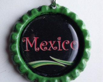 Handmade Mexico bottle cap necklaces