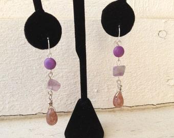Purple Passion Dangling Earrings