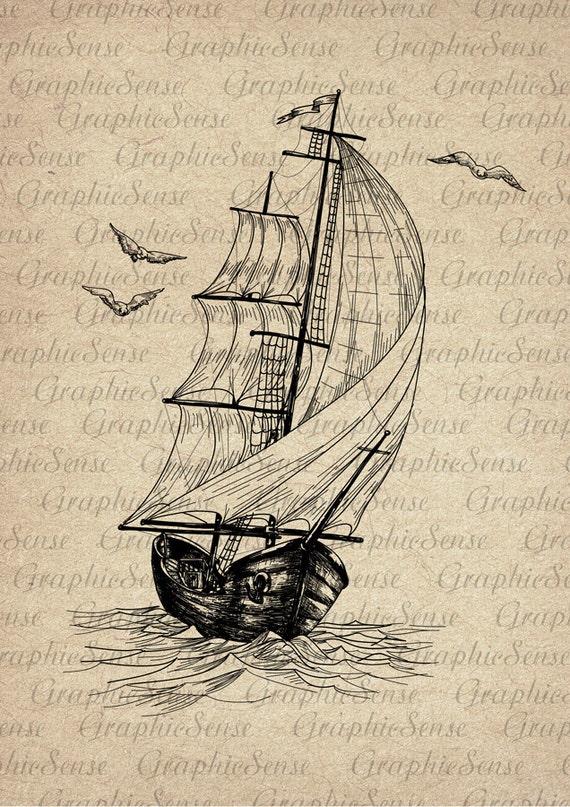 ship drawing paper - photo #24