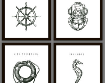 8 Nautical Home Decoration Art Prints