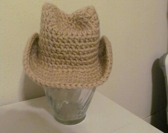 Hand Crocheted Baby Cowboy/Cowgirl Hat - Made to Order