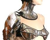 futuristic spartan shoulder armour custom made for men or women Robot heart