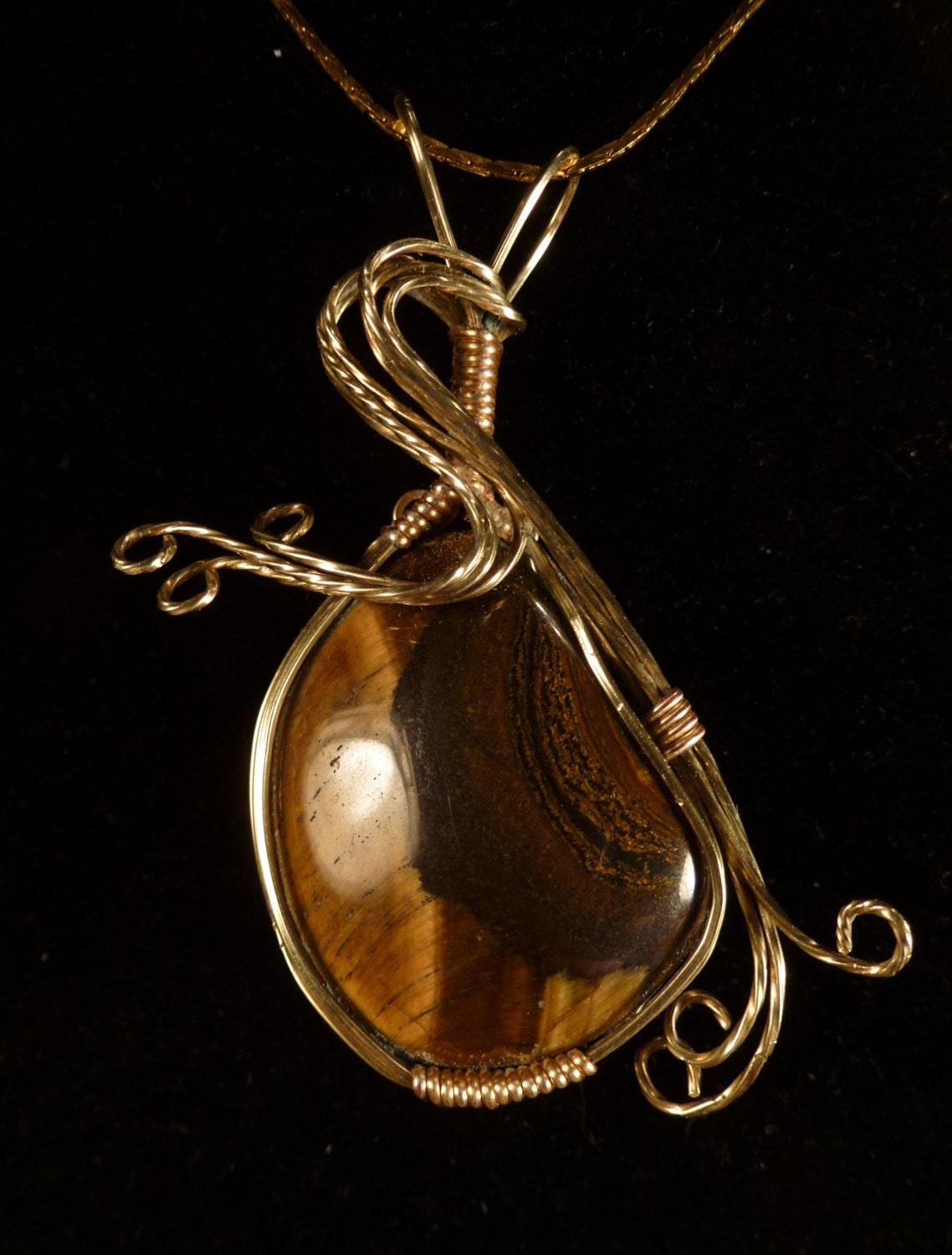 Tigers Eye Necklace Silver