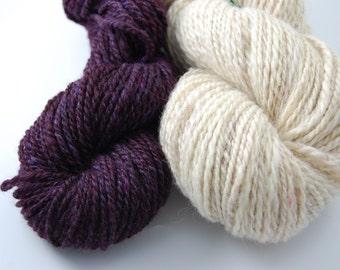 Romney handspun yarn 100% romney wool 89 yards Worsted 2 ply
