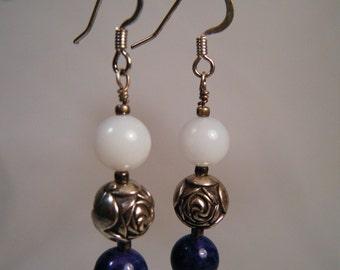 CLEARANCE - Denim Rose Earrings